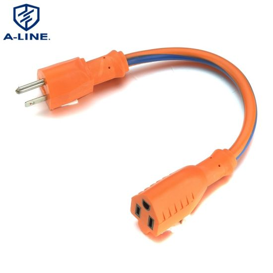 Good Service American Heavy Duty 3 Pins 16A 125V Extension Cord Factory