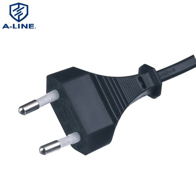 VDE Approved European Two Pins Power Cord