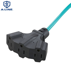 Us Multifunctional PVC Insulated 3 Pin Power Extension Cord