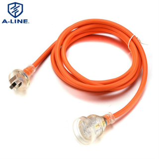 Factory Price Australia 10A 250V Extension Cord with LED Light